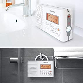 Sangean H201 Waterproof/Shower Radio
