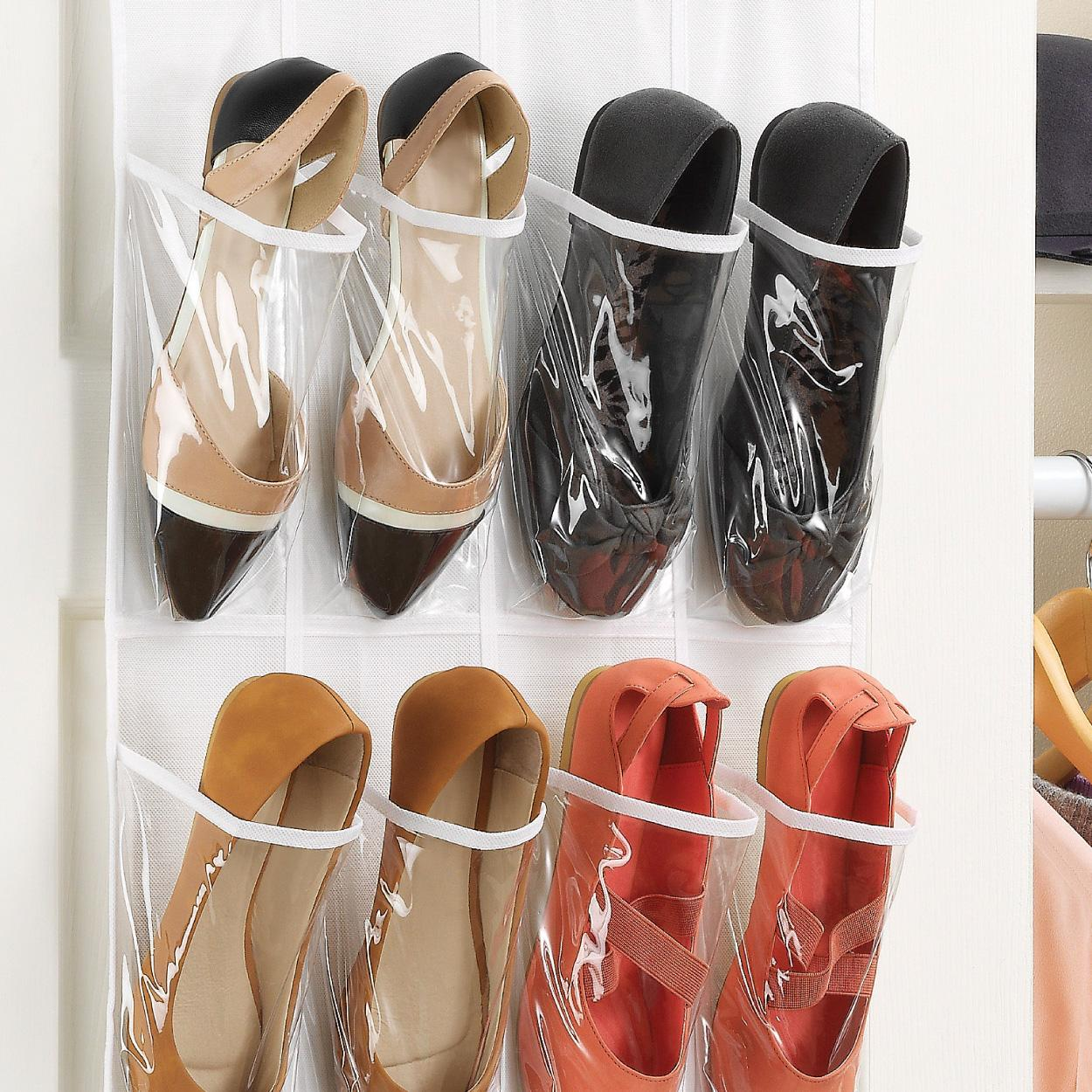 Whitmor 6044 13 ctf white crystal collection for Door shoe organizer