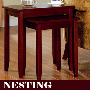 The Rosewood Tall Brown End Table
