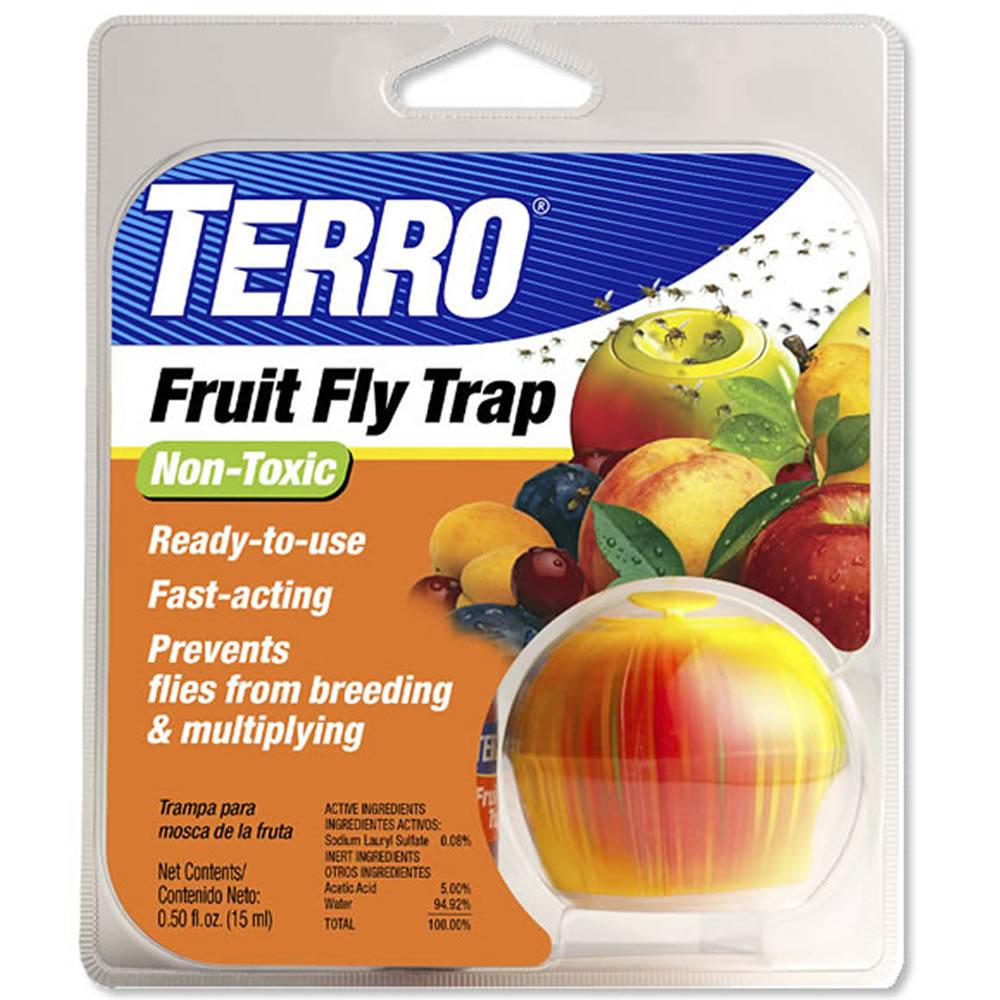 terro fruit fly trap t2500 home pest control traps patio lawn garden. Black Bedroom Furniture Sets. Home Design Ideas