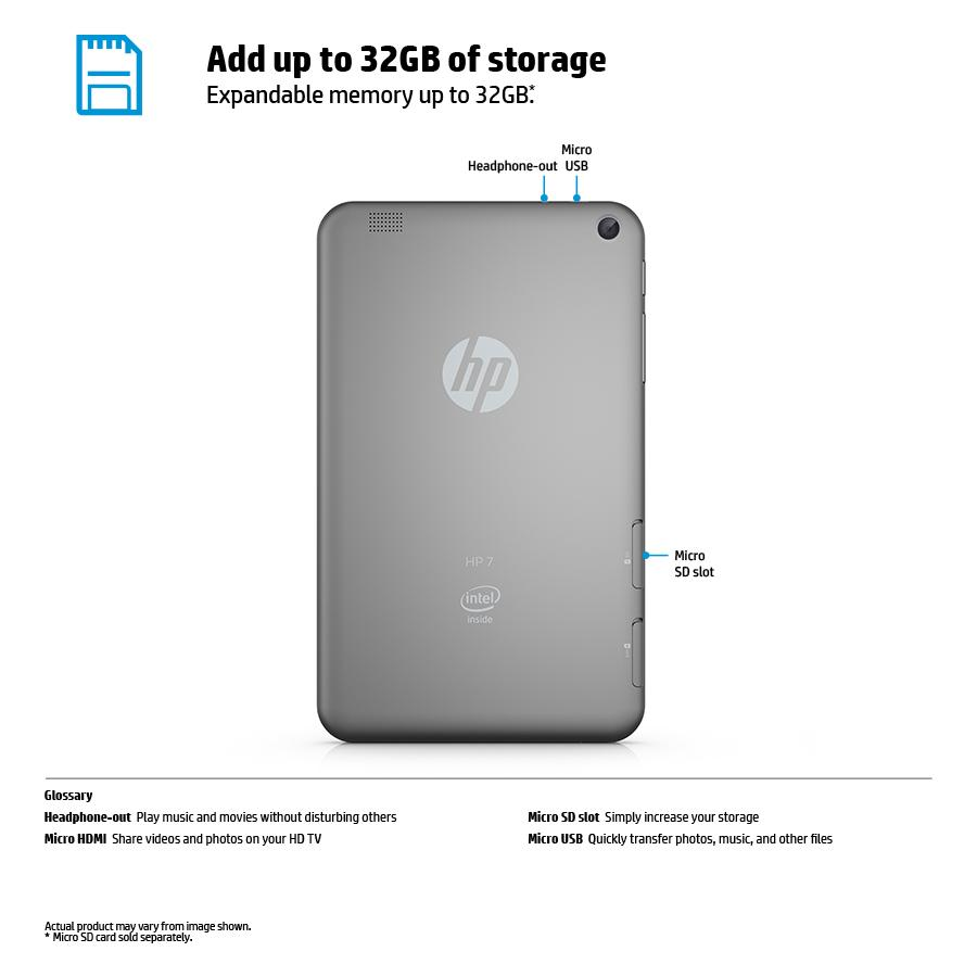 HP 7 Plus G2-1331 8 GB Tablet (Free 200MB 4G Data/Month)