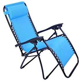 Outsunny zero gravity recliner lounge patio for Anti gravity chaise lounge