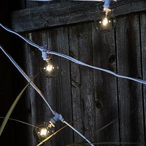 Bulbrite STRING15/E12 Outdoor Mini String Light w/Incandescent G16 Globe Bulbs, 25-Feet, 15 ...