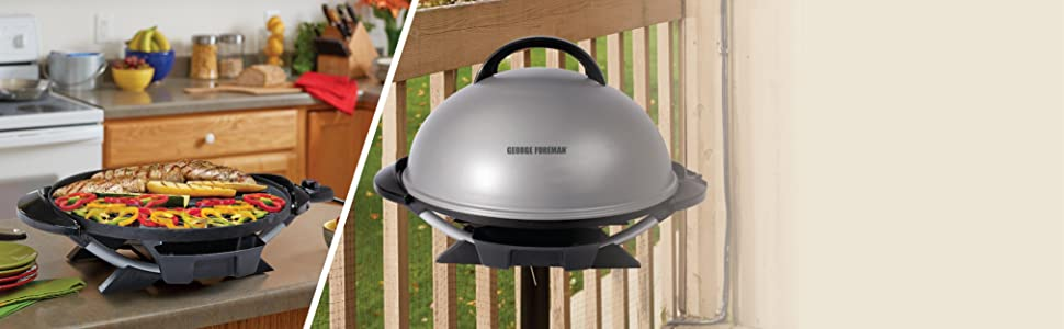George foreman electric grill camp tailgate indoor outdoor for George foreman grill fish