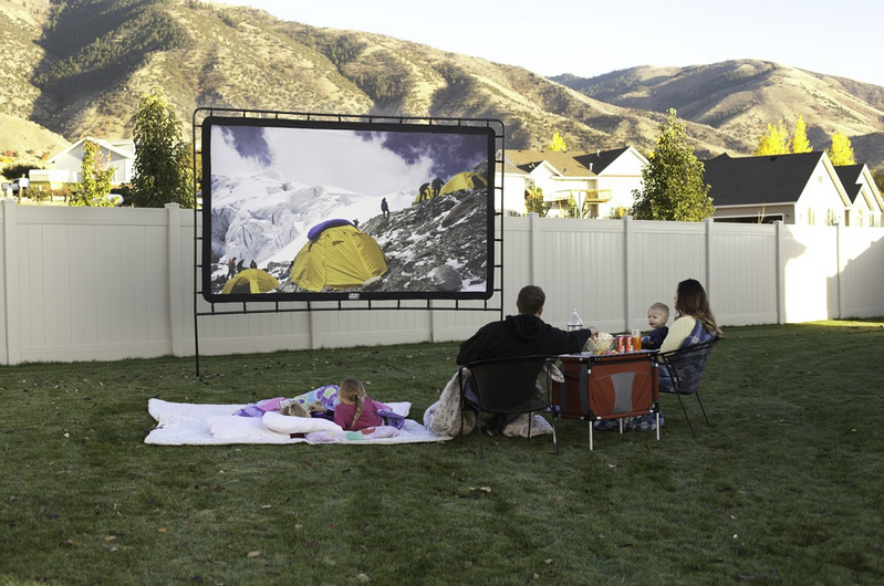 Camp chef os 144 indoor outdoor movie screen for Indoor gardening documentary