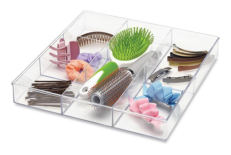 Whitmor 6789 3065 6 section clear drawer - Drawer desk organizer ...
