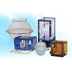 vacuum desiccators, space saver desiccators, types of desiccators