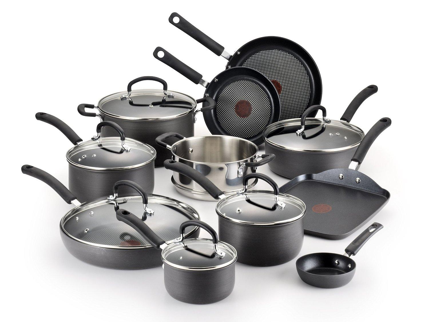 T fal e918sh ultimate hard anodized nonstick for Kitchen cooking sets