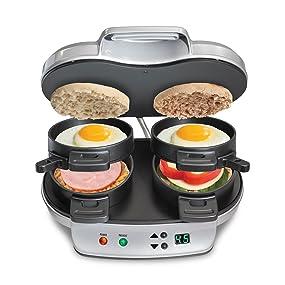Amazon Com Hamilton Beach 25490a Dual Breakfast Sandwich