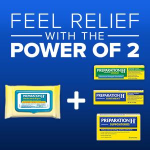 preparation h, prep h, hemorrhoid relief, hemorrhoid cream, hemorrhoid ointment, power of 2