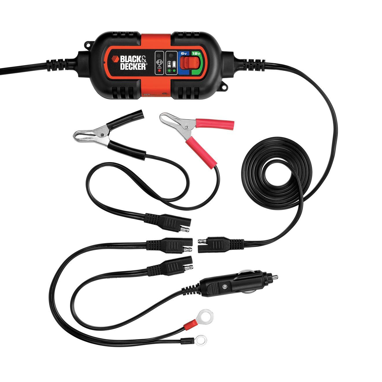 Battery Charger Maintainer Black Amp Decker Bm3b 6v 12v