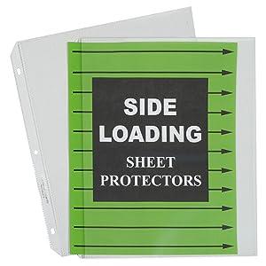 Side Loading Sheet Protectors