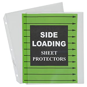 Side Loading Sheet Protectors
