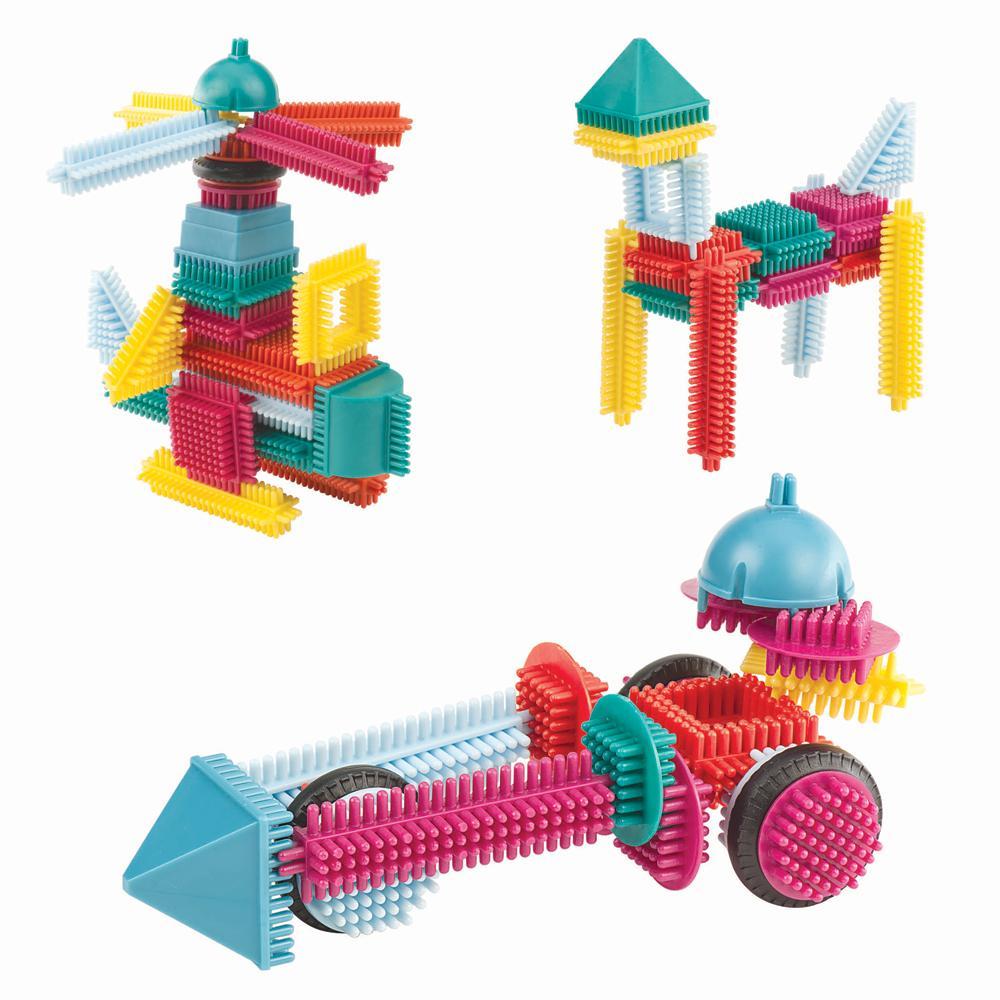 Amazon com battat bristle block 113 piece set toys amp games