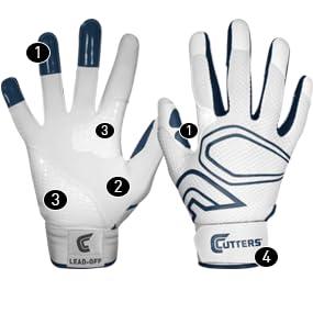 cutters lead off batting glove, batting glove, leather batting glove, lead-off glove