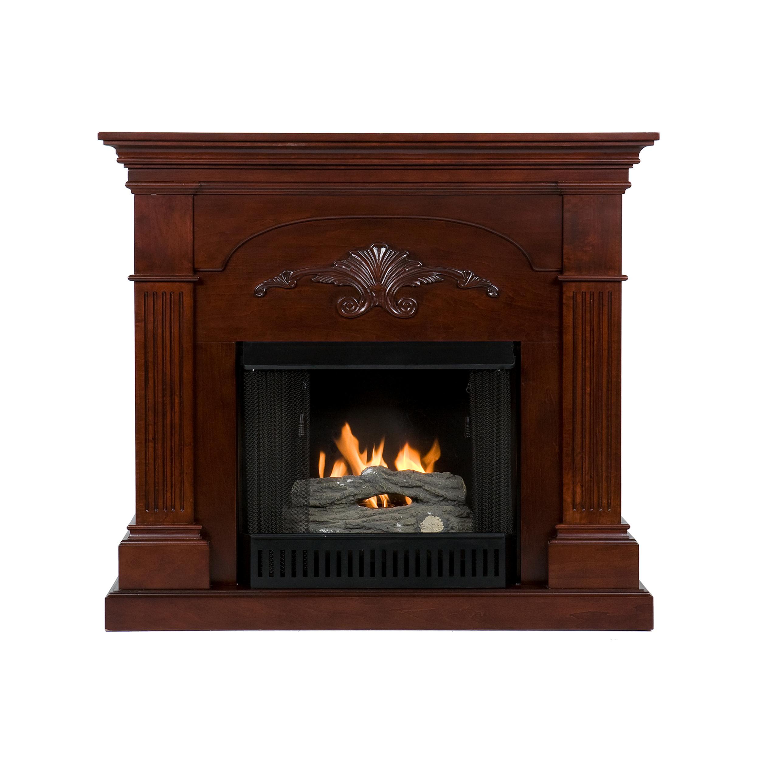 Sei Sicilian Harvest Gel Fuel Fireplace Mahogany Electric Fireplace