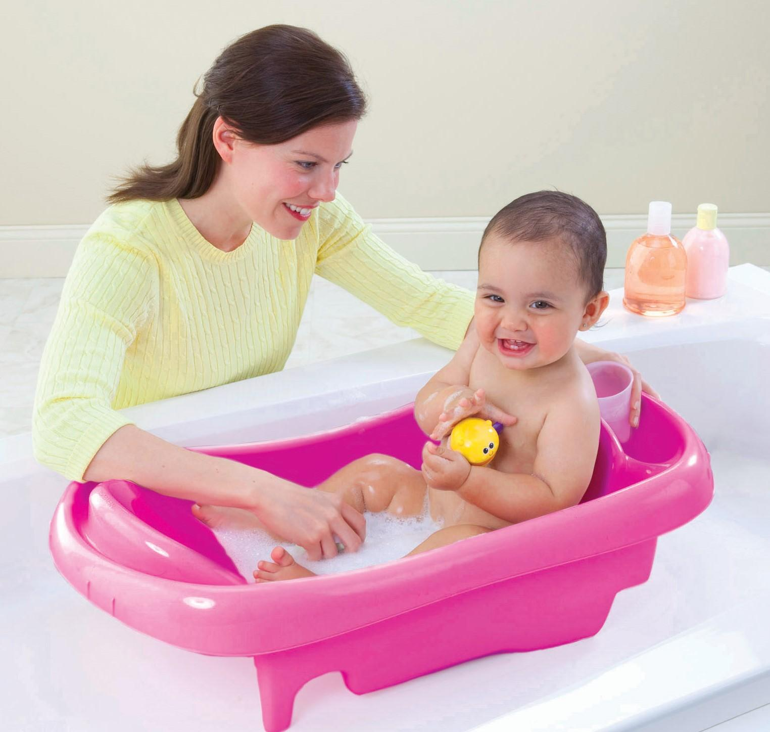 baby bathing comfortable wash first years infant toddler tub w sling bath tubs ebay. Black Bedroom Furniture Sets. Home Design Ideas