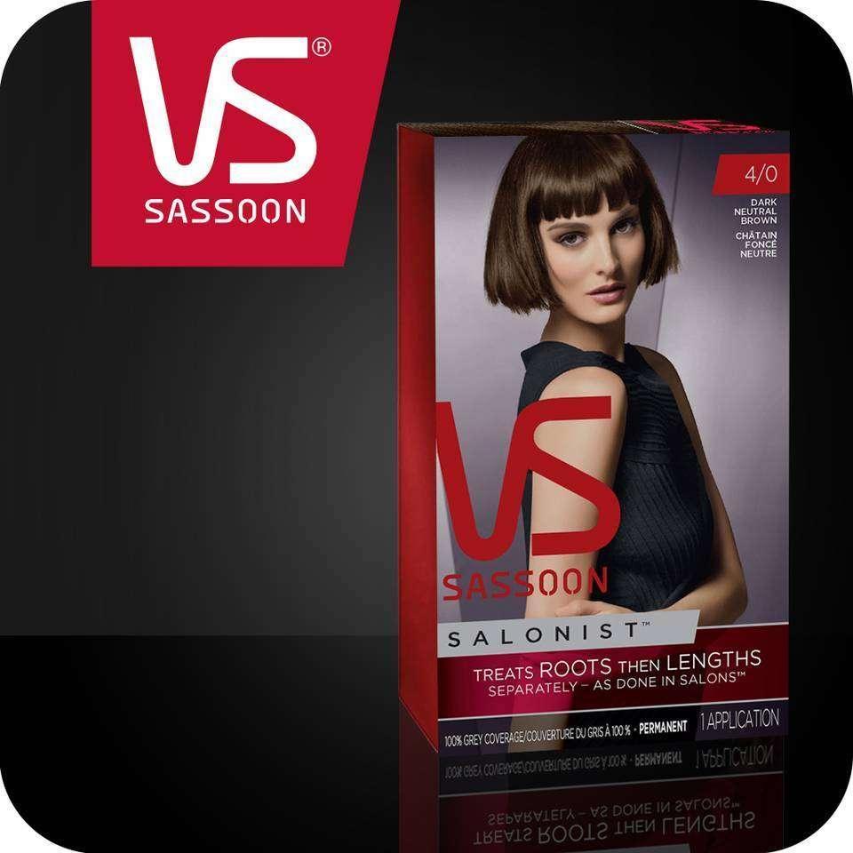Amazon Com Vidal Sassoon Salonist Hair Colour Permanent Color Kit 4 0 Dark Neutral Brown Beauty