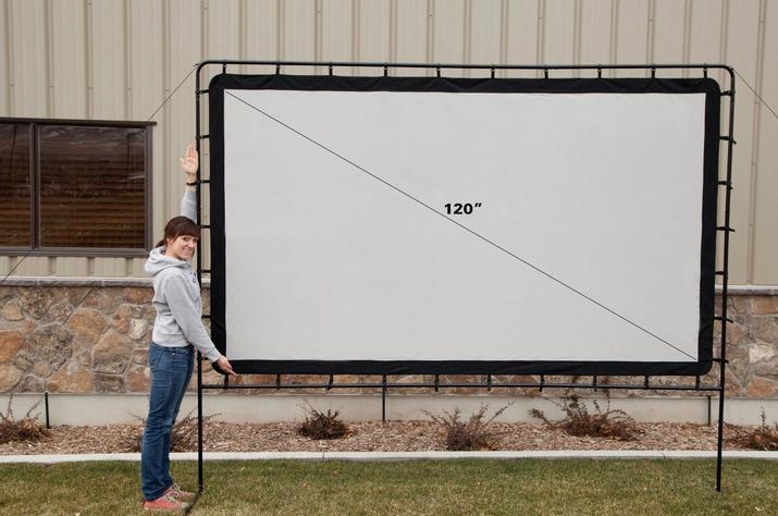 os120l backyard big indoor outdoor portable movie projection screen