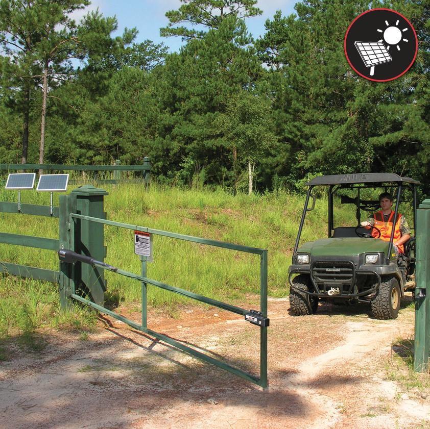 Light swinging gate