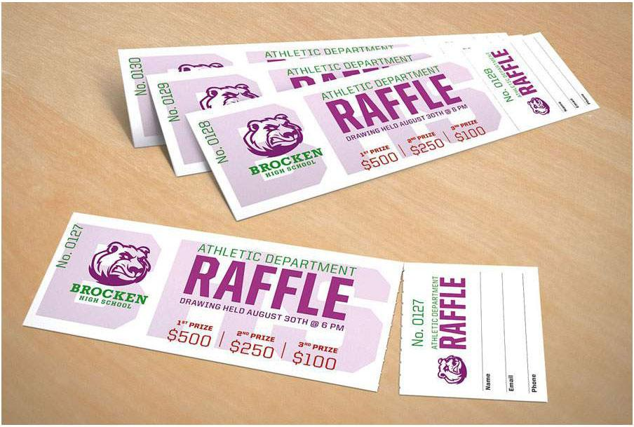 Avery raffle tickets for Office depot raffle ticket template