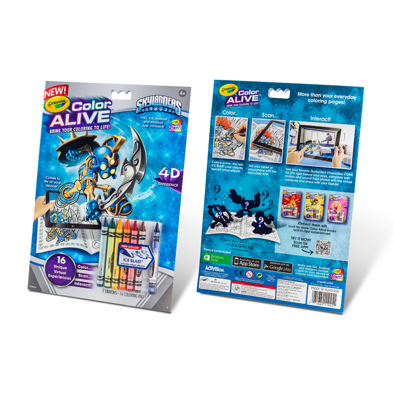 crayola color alive action coloring pages skylanders toys games