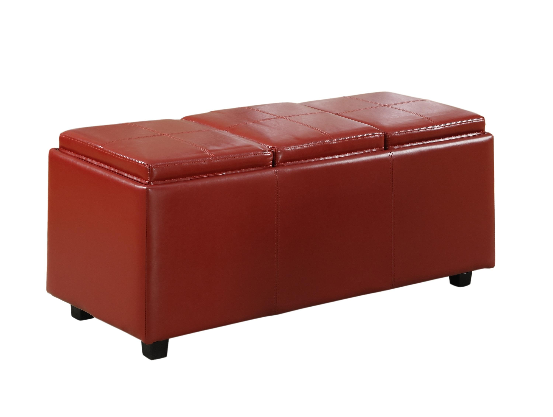 Simpli Home Avalon Faux Leather Rectangular
