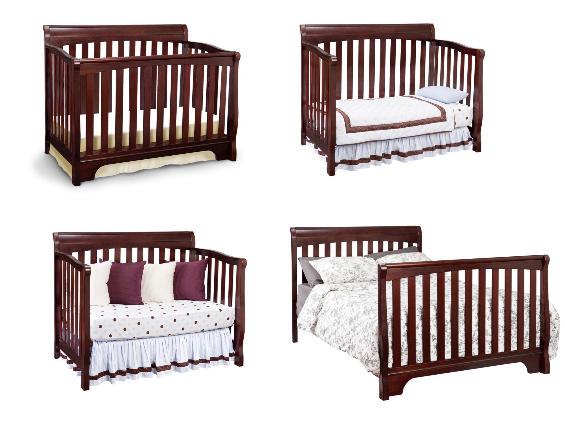 Amazon.com : Delta Children Eclipse 4-in-1 Crib, White : Baby