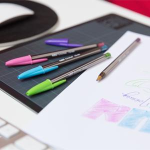 BIC, Stic Pens, Round Stic, Cristal, pen, ballpen, ball pen, writing, #1 pen, paper mate