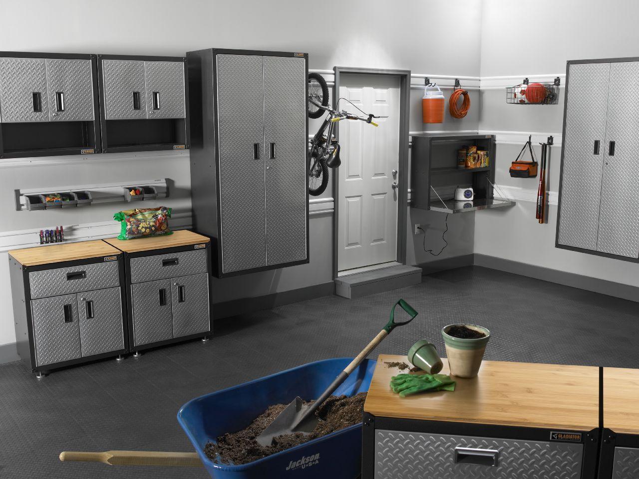 Gladiator Garage Storage Cabinets: Amazon.com: Gladiator GAWG28KDYG 3/4 Door EZ RTA Wall