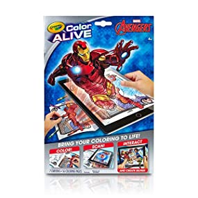 crayola avengers color alive action coloring pages toys games