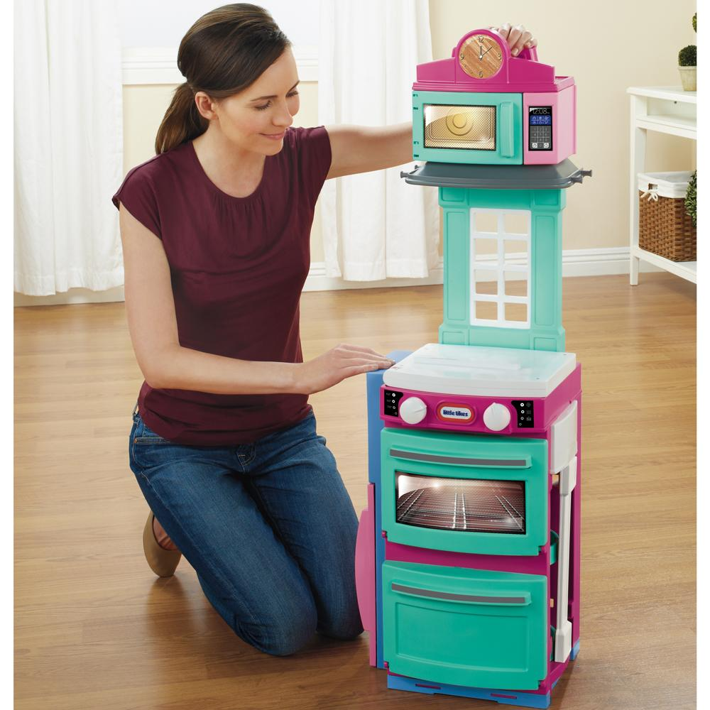 little tikes cook 39 n store kitchen playset pink toys games. Black Bedroom Furniture Sets. Home Design Ideas