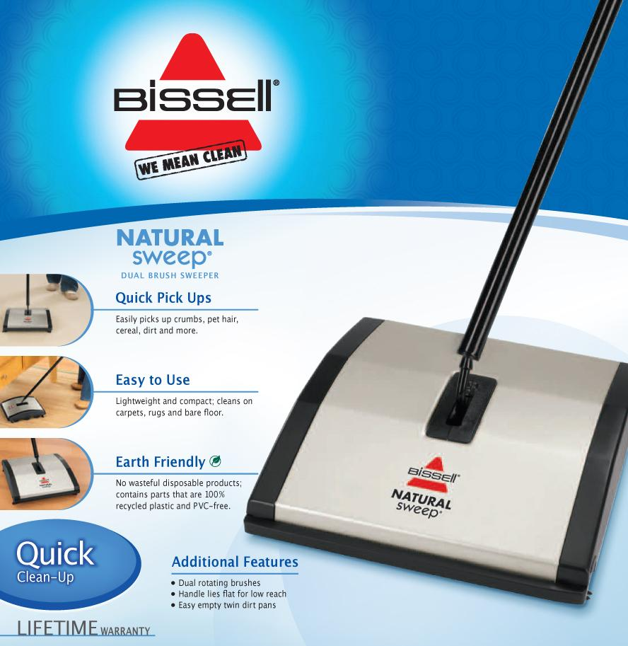 Amazon Com Bissell Natural Sweep Dual Brush Sweeper