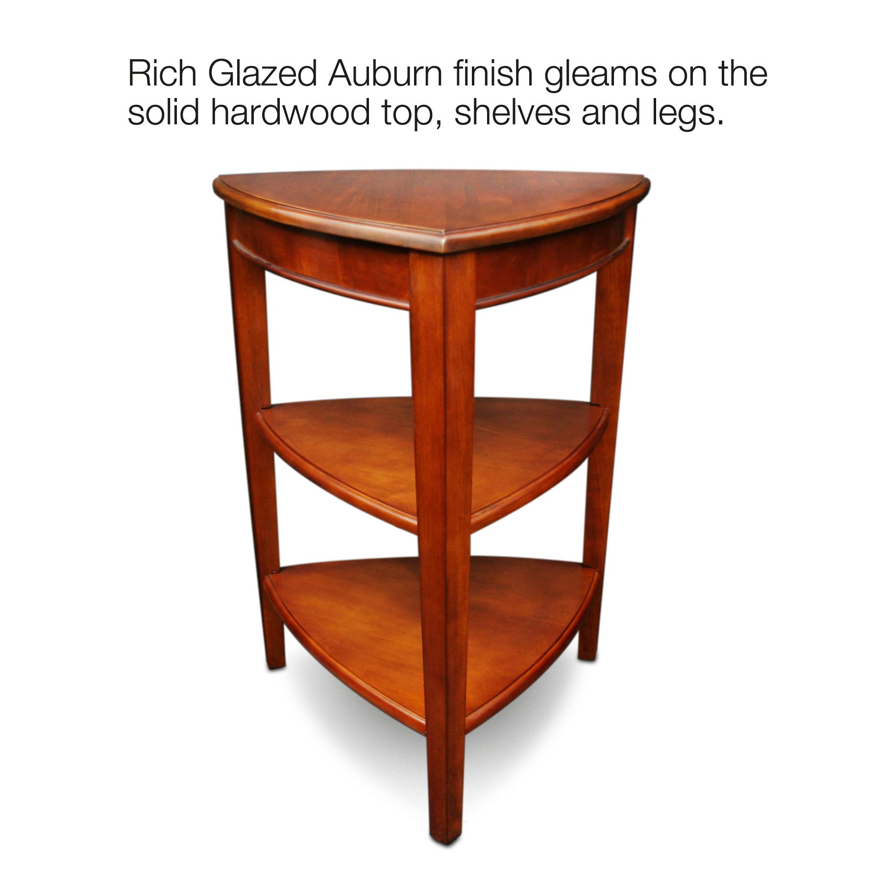 Leick Shield Tier Corner Accent Table Kitchen Dining