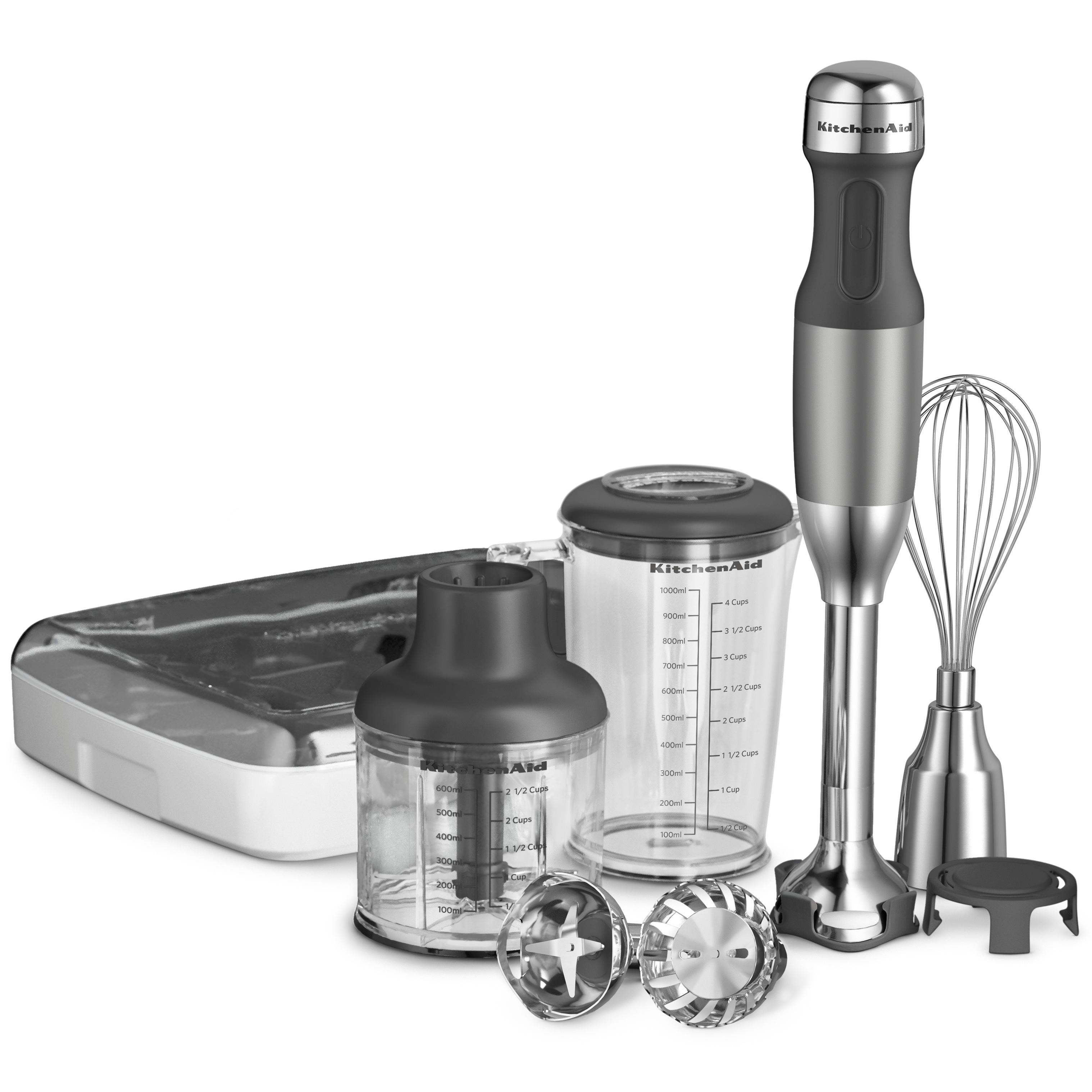 Amazoncom KitchenAid KHB2351CU 3Speed Hand Blender  Contour Silver Elect -> Kitchenaid Hand Blender