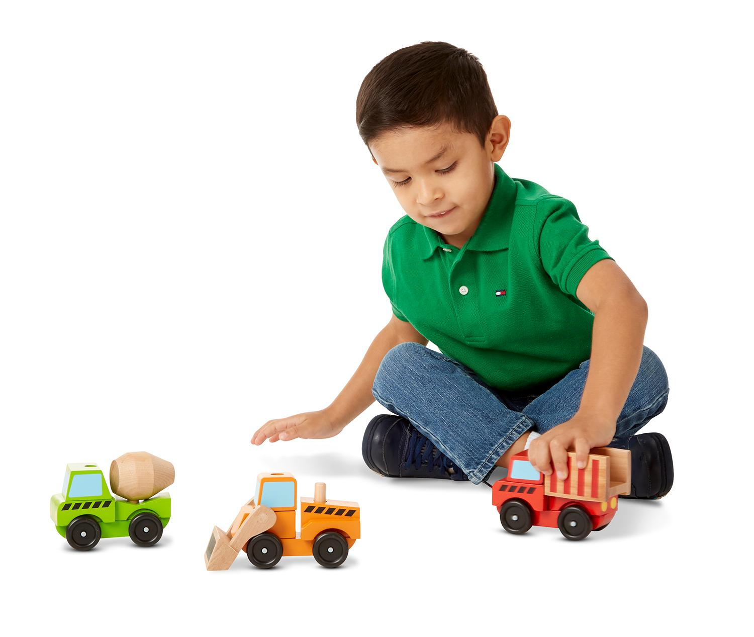 Construction Site Toys For Boys : Amazon melissa doug stacking construction vehicles