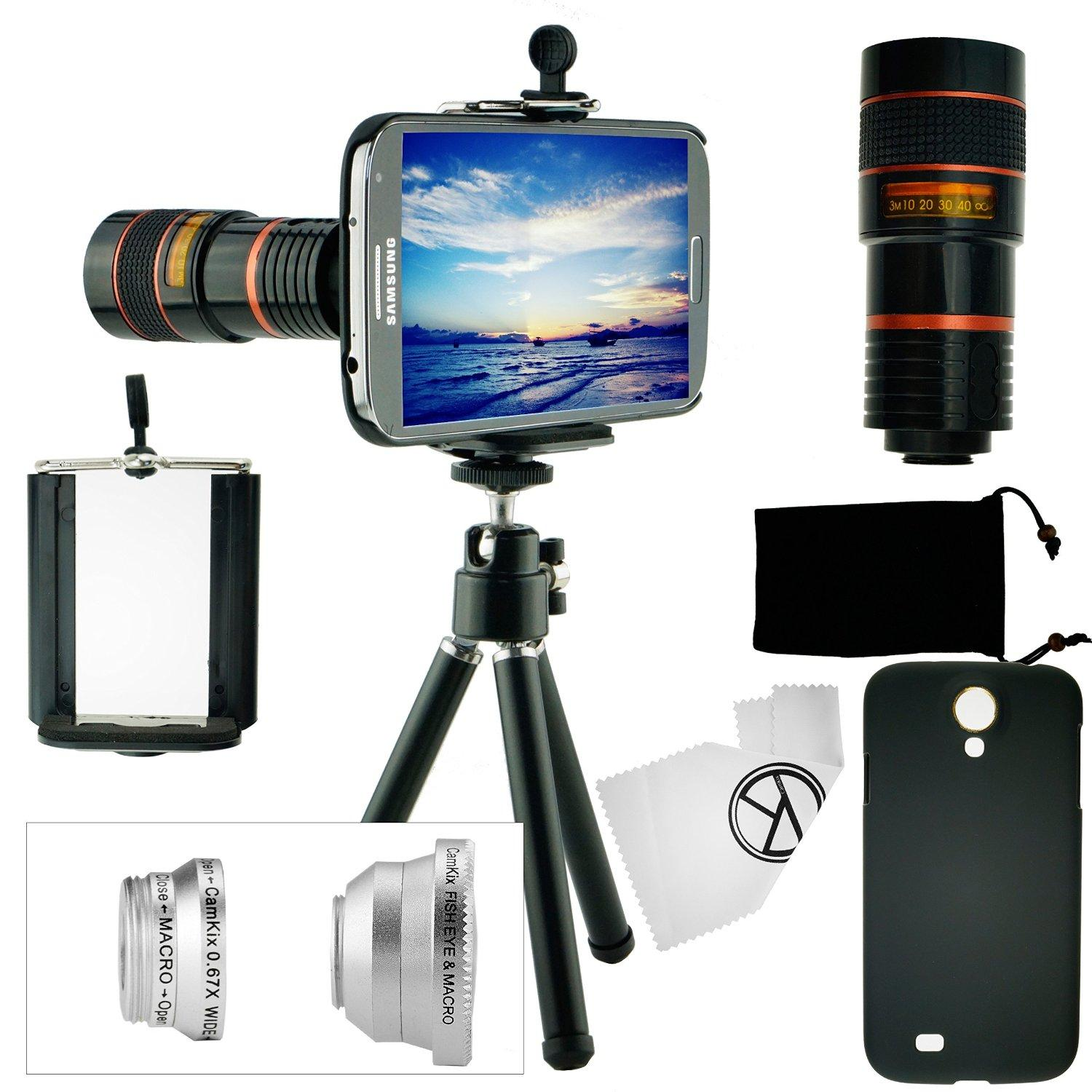camkix camera lens kit for samsung galaxy s4. Black Bedroom Furniture Sets. Home Design Ideas