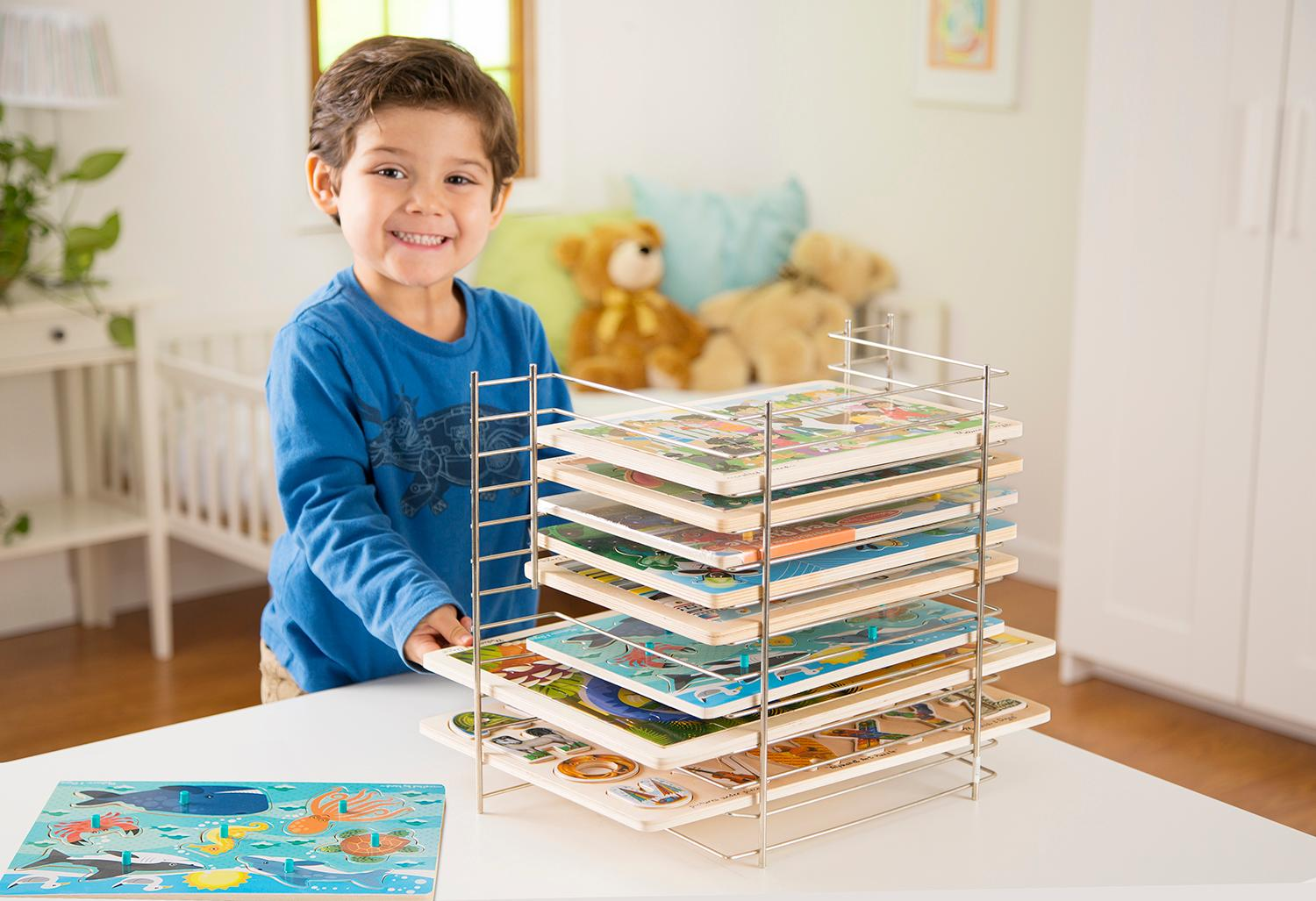 Amazon melissa doug deluxe wire puzzle rack