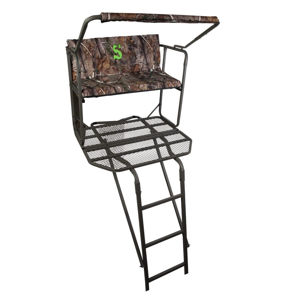 Summit dual pro ladder stand hunting tree for Tree stand pictures