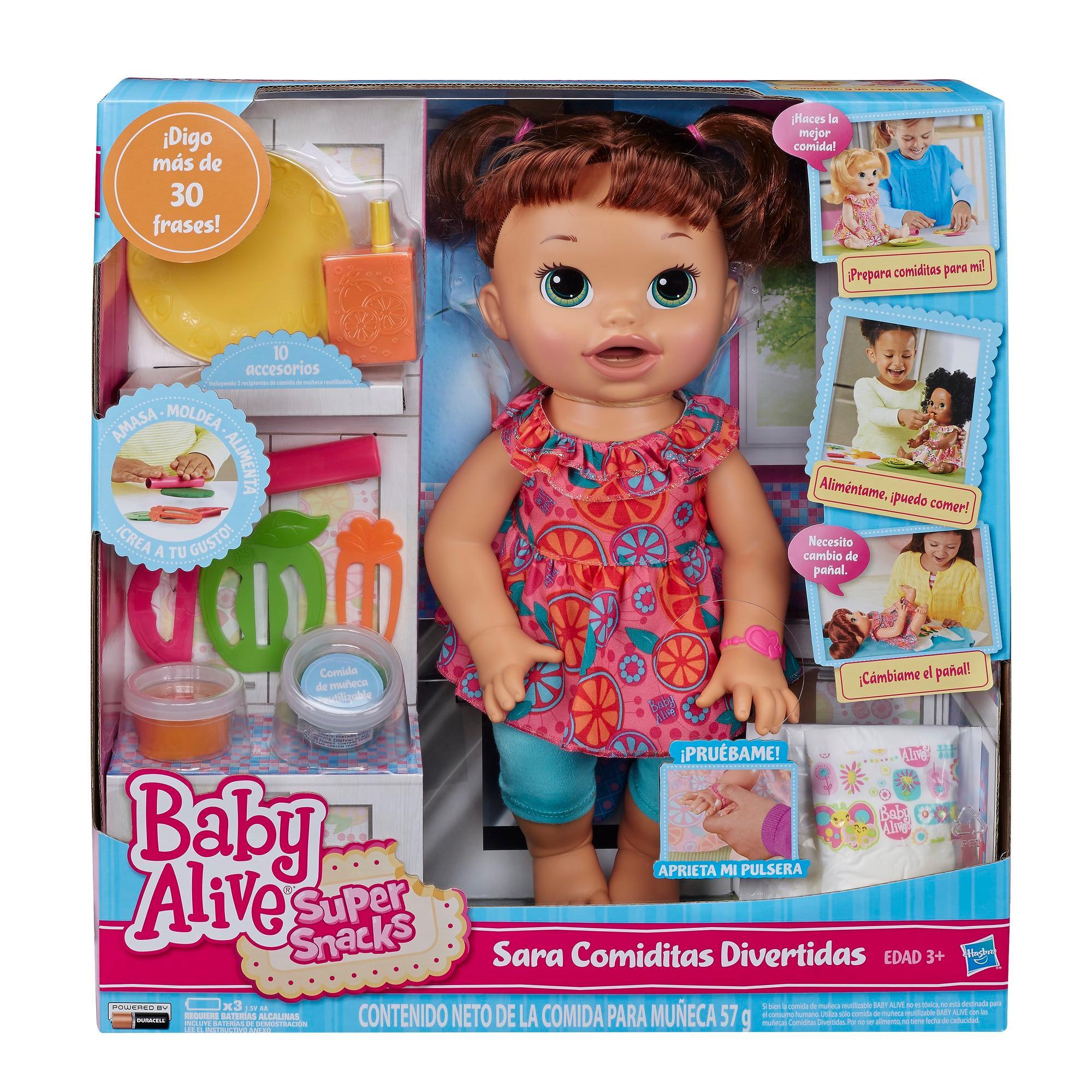 Amazon Com Baby Alive Super Snacks Snackin Sara Brunette