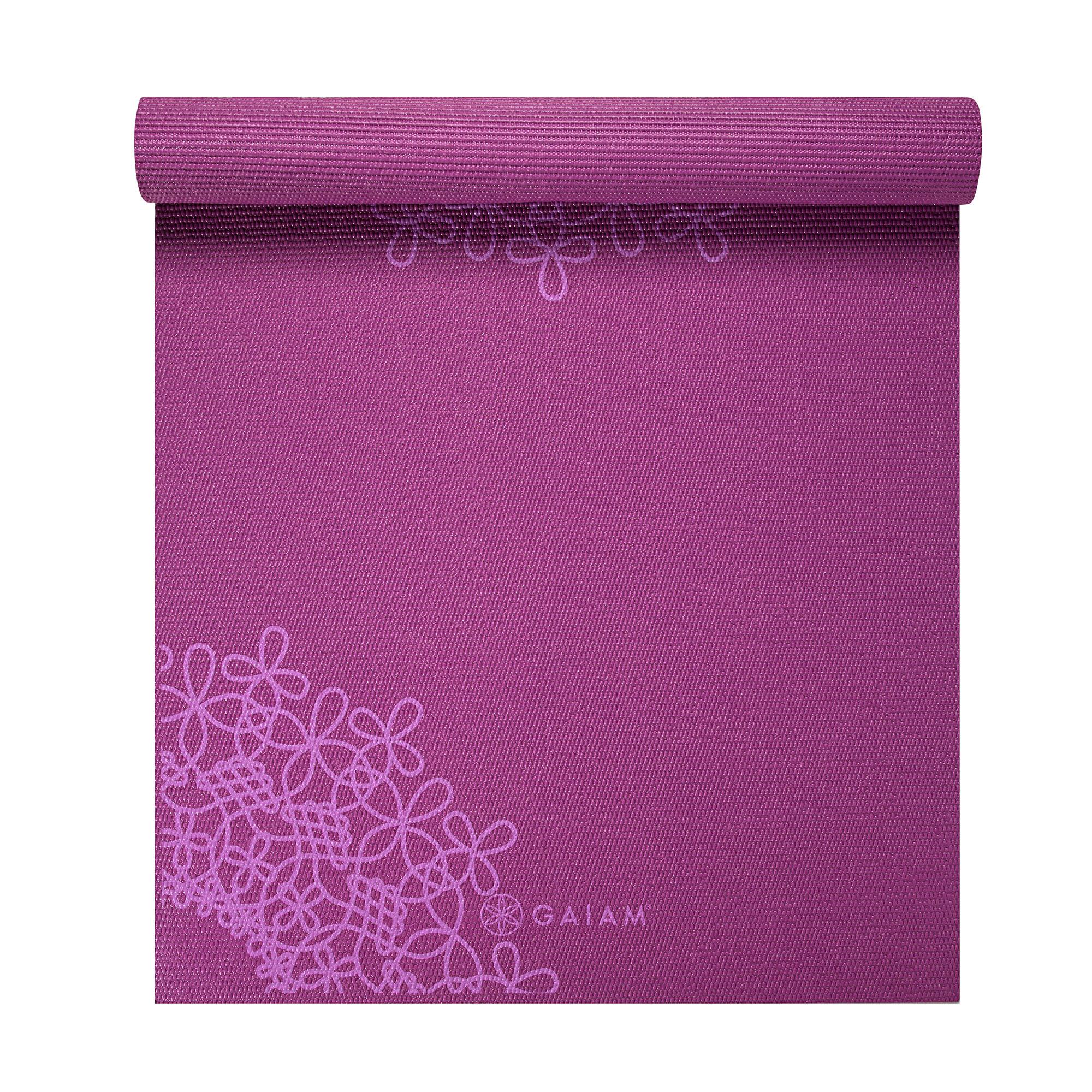 Amazon.com : Gaiam Bloom Printed Yoga Mat (Fuchsia