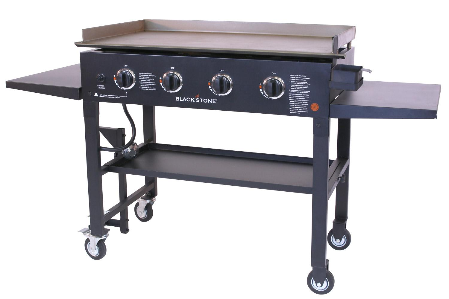 Portable Outdoor Griddle ~ Gas grill flat top griddle burner cooktop portable bbq