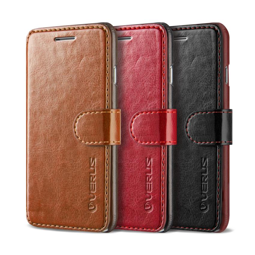 Verus dandy leather style iphone 6/6s wallet case brown