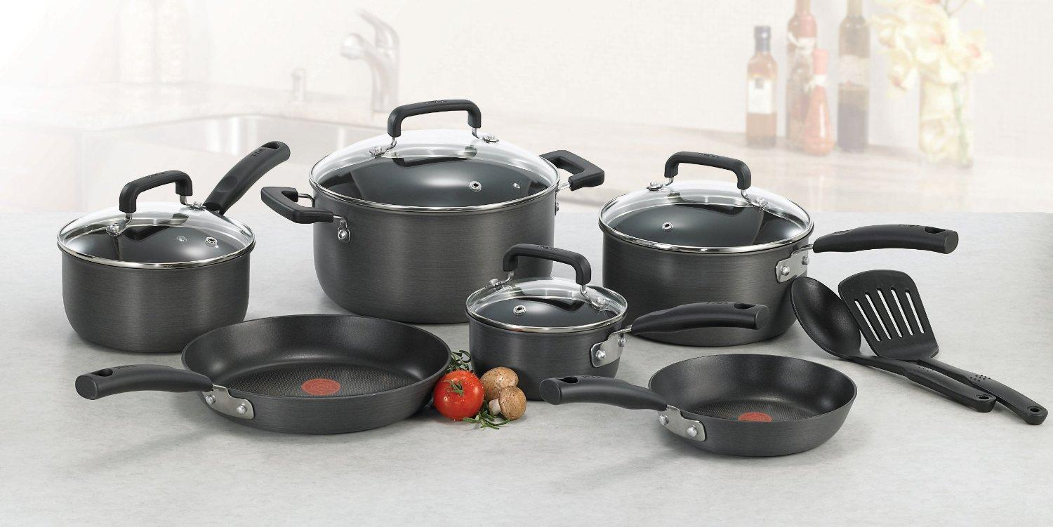 t fal d913sc signature hard anodized nonstick thermo spot heat indicator cookware. Black Bedroom Furniture Sets. Home Design Ideas