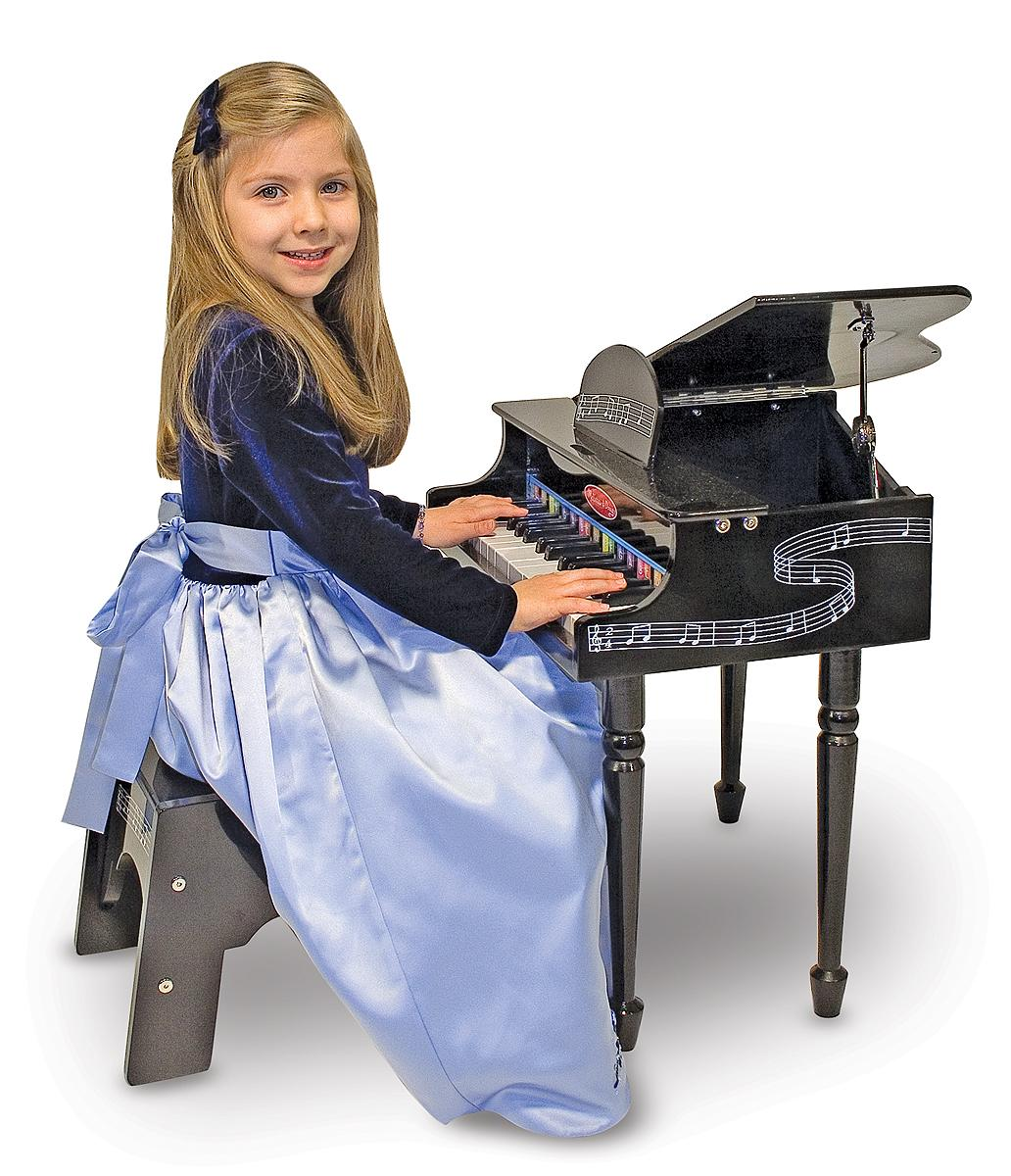 New Black Grand Piano With 30 Hand Tuned Keys Comes With