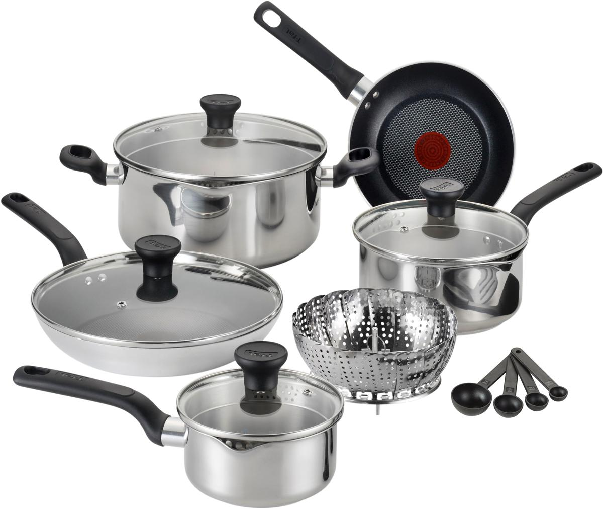 T Fal Excite Stainless Steel 14 Piece Cookware Set