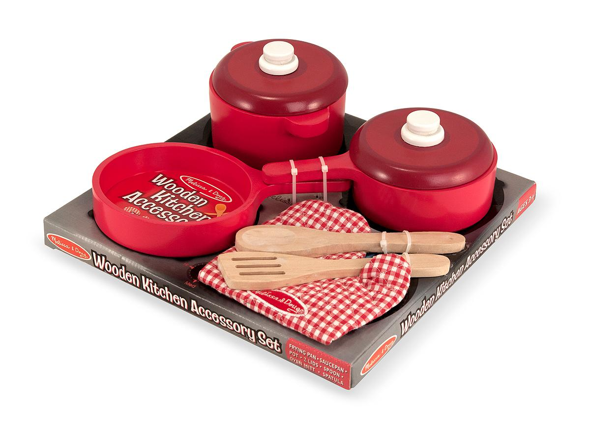 Melissa doug deluxe wooden kitchen accessory for Kitchen set for 1 year old