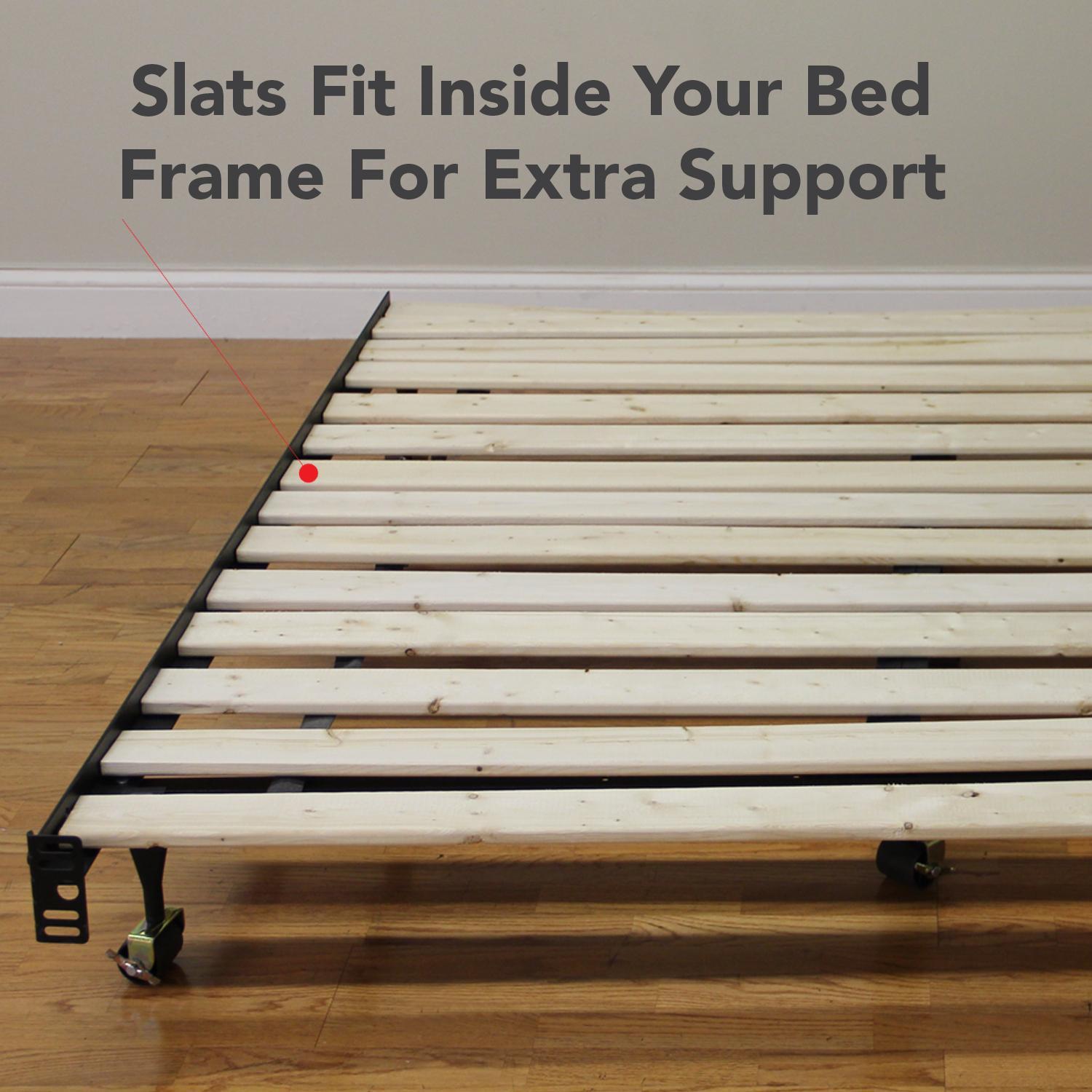 Wooden Bed Slats Bunkie Board Frame Classic Brands Heavy Duty Wooden. Full resolution‎  image, nominally Width 1500 Height 1500 pixels, image with #BA1117.