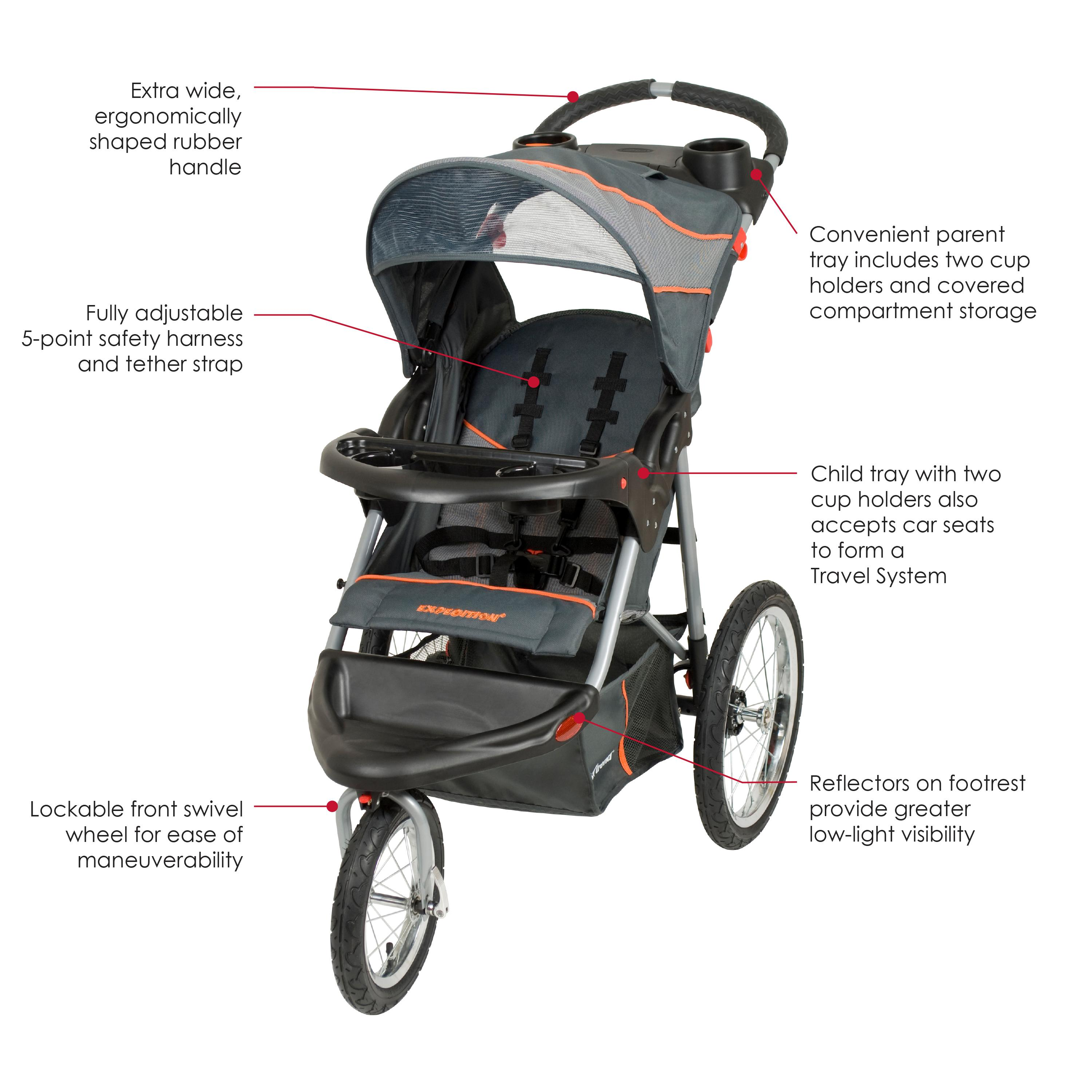 baby trend expedition jogger vanguard jogging strollers baby. Black Bedroom Furniture Sets. Home Design Ideas