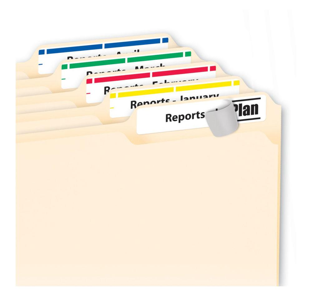 Avery file folder labels laser inkjet printers 1 3 cut for Avery 5202 label template